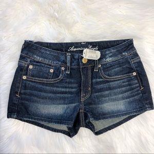 NWT American Eagle Dark Wash Denim Shorts